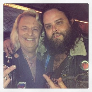 Andy with Jim Dandy of Black Oak Arkansas