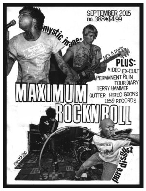Maximum Rocknroll #388 • Sep 2015
