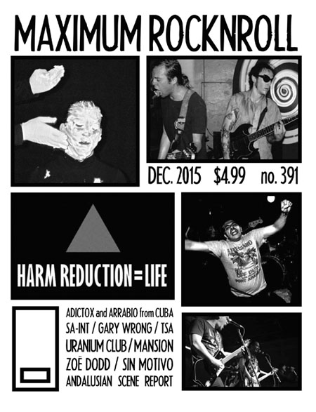 Maximum Rocknroll #391 December 2015