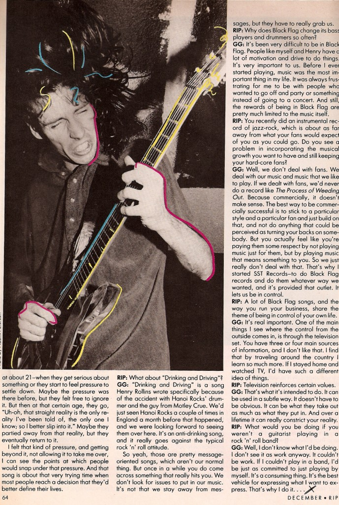 From the first issue of RIP magazine. Neon Ginn
