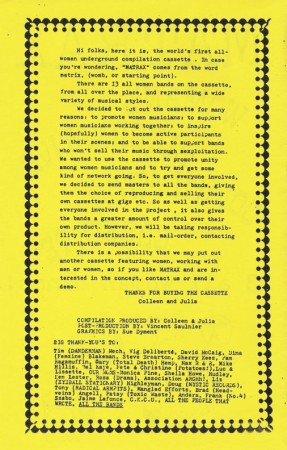 Page from the Matax booklet
